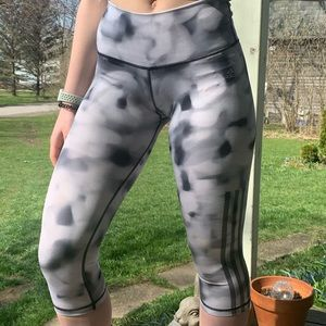 High Rise Cropped Printed Adidas Tights